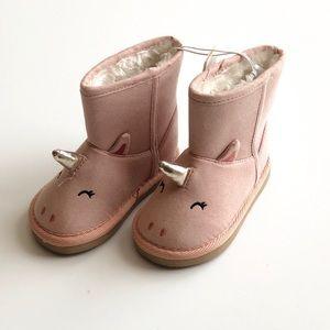 NWT Old Navy unicorn warm booties - 5